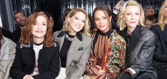 fb9f5626c41d 2019年春夏ファッションウィーク、最前列を飾ったスターたち。|特集 ...
